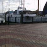 Kurvenanzeigersteinmuster und Hafen